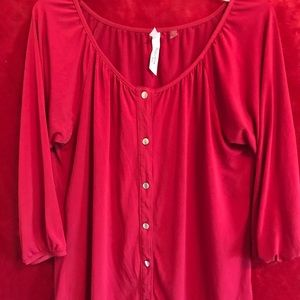 Cte Red button up Blouse
